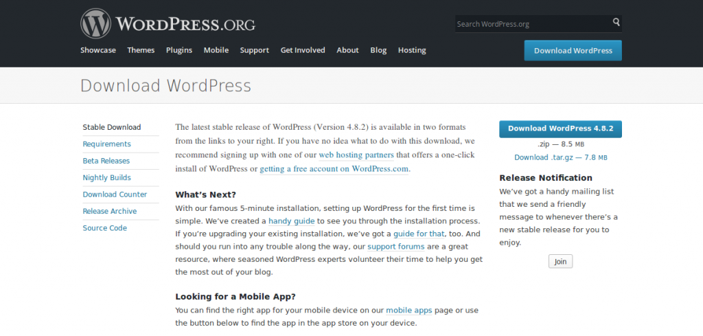 Download File Instalasi WordPress
